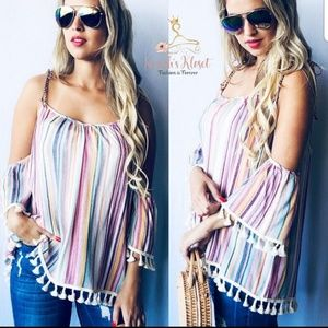 NEW Multi colored striped top